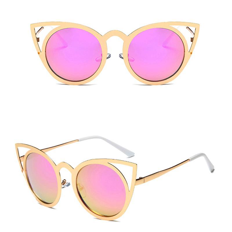 Lunettes de soleil femmes Cat Eye classique Designer surdimensionné UV400 Lunettes Shades Mode 85WB