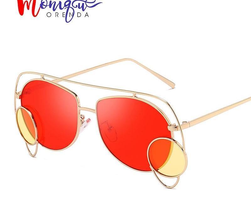 2019 Pilot Vintage Lunettes de soleil rétro femme irrégulière Cadre petit cercle Lunettes de soleil Homme Femme Lunettes Effacer Glasses98