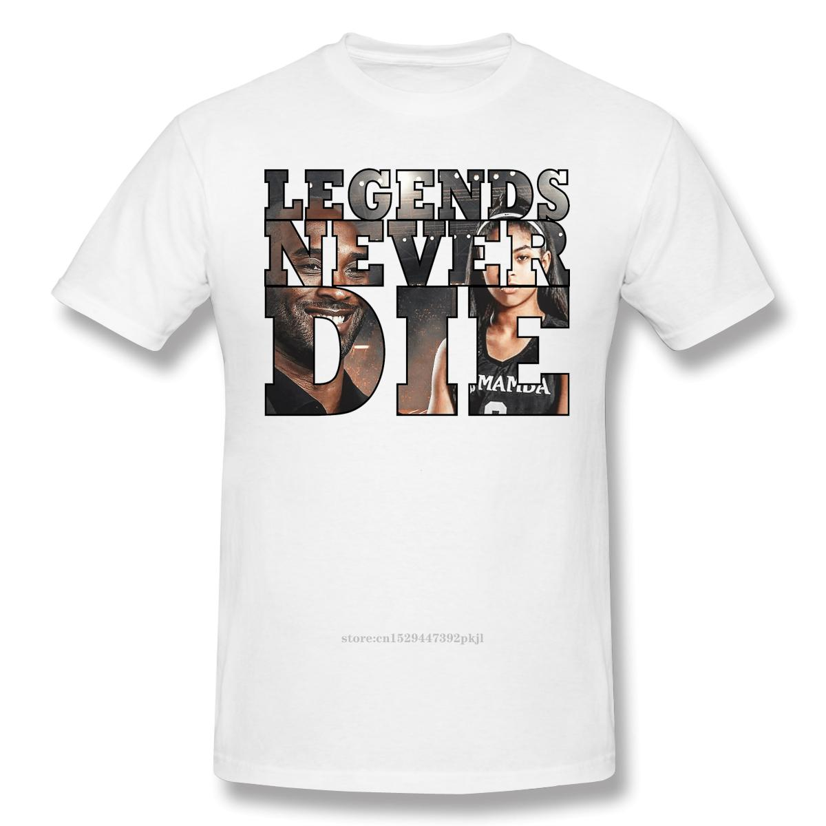 2020 New Arrival legendas nunca morrem Ofertas T-shirt grande da venda de basquete Cotton Bryant Crewneck T-shirt gola redonda 100% pl