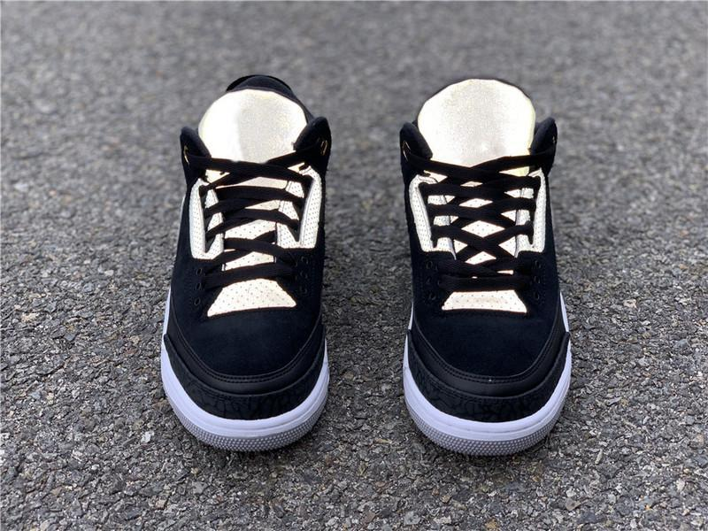 Seksi Otantik 3 Tinker Siyah Çimento Gri 3M Yansıtıcı Erkekler Basketbol Metalik Altın Spor Sneakers CK4348-007 ile ait Kutusu Ayakkabı