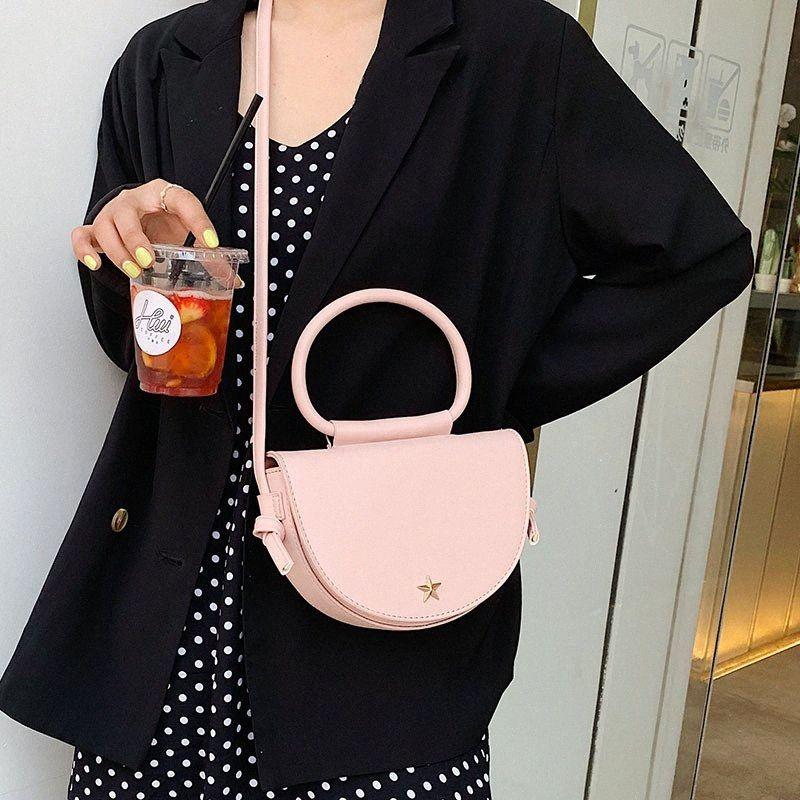 JIULIN Mini полукруг New Saddle Bag Женские одного плеча наклонной сумка океан Стиль отдых Simple Trend Slant 2019 MhS5 #