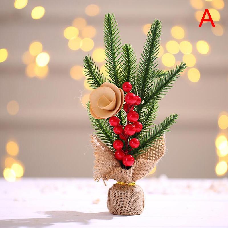 2021 Arbre de Noël Festival de soirée de mariage anniversaire table de bureau Accueil artificiel Ornement 25 * 10cm
