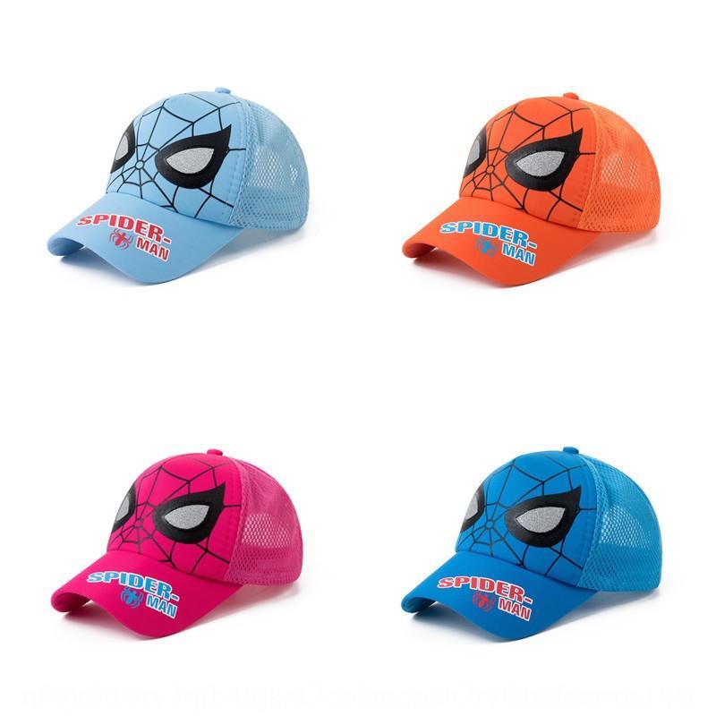 F1B0G 2019 temporada de verano para niños con malla para chicos de béisbol en punta y niñas transpirable gorra de béisbol bebé al aire libre sol de la historieta del sombrero gorra de plato