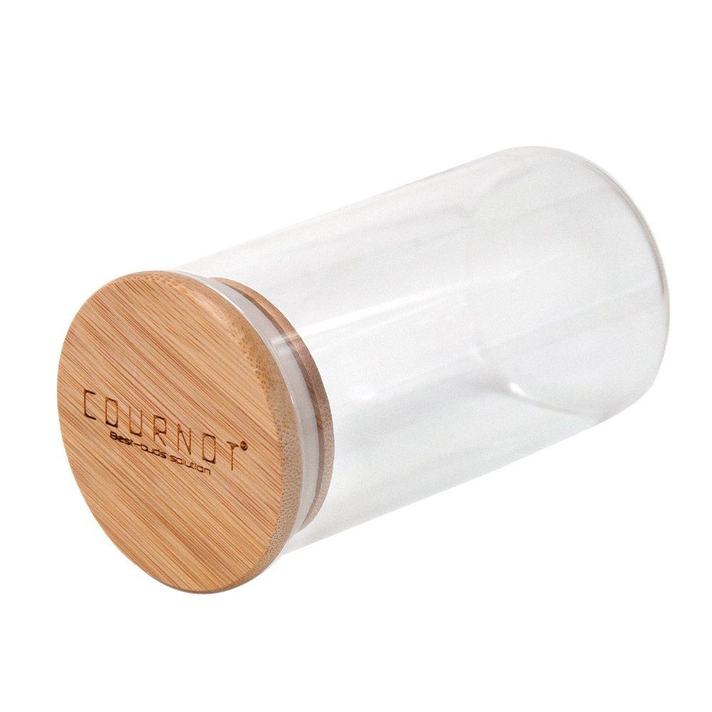 En verre épais à sec Herh Conteneur pour Airtight Seal stockage verre Cut tabac Pot Joint silicone Anneau couvercle Bouteille en verre Stash Box