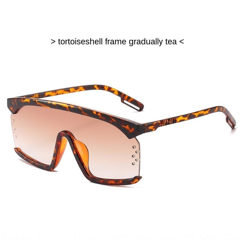 otXx2 Nouveau soleil d'une seule pièce 8065 cadre à la mode grandes lunettes de soleil dames de lunettes à sourcils lunettes de soleil de plage d'été