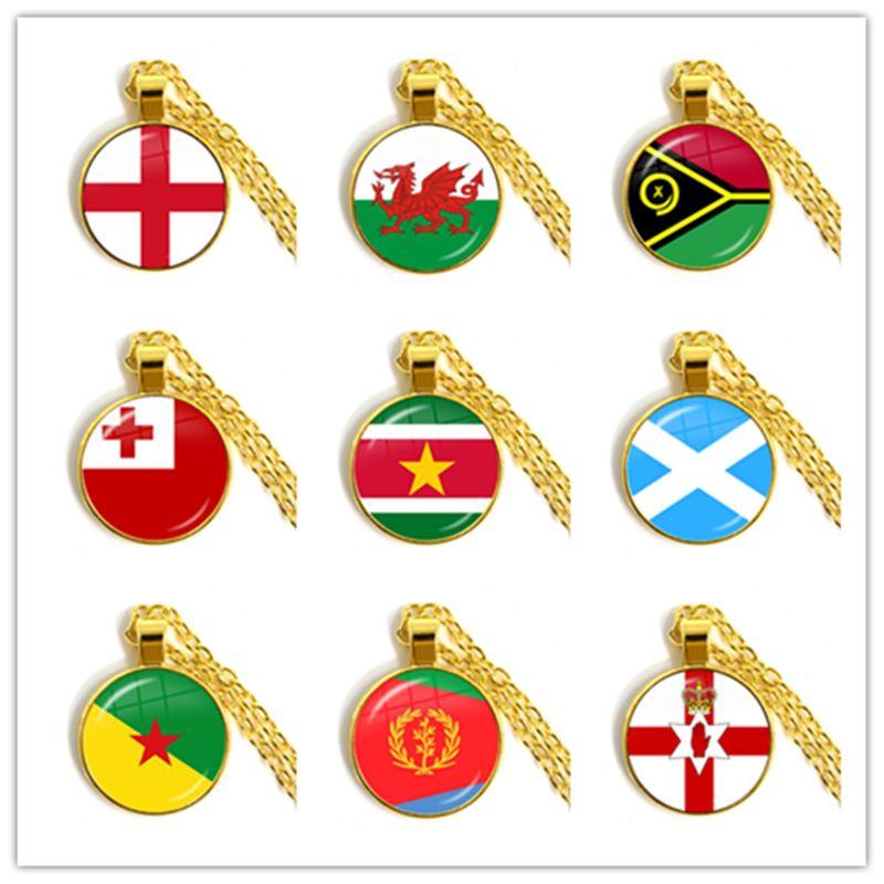 Irlande, Pays de Galles, Vanuatu, Tonga, Suriname, en Écosse, en Guyane française, en Erythrée, Drapeau Nation Irlande du Nord Pendentif Collier cadeau