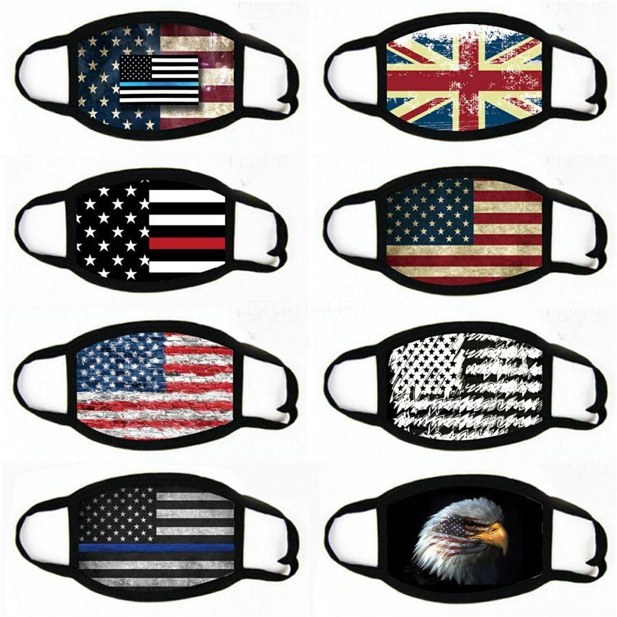 Италия Испания Флаг печати Маска Keep Файтинг лица Маски Ткань для взрослых Защитная маска многоразового Proof моющихся # 106