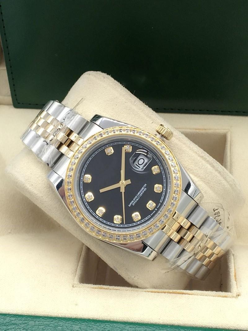 2020 hot style mechanical automatic diamond sapphire surface waterproof watch, high quality fashion Gregorian calendar type steel watchband