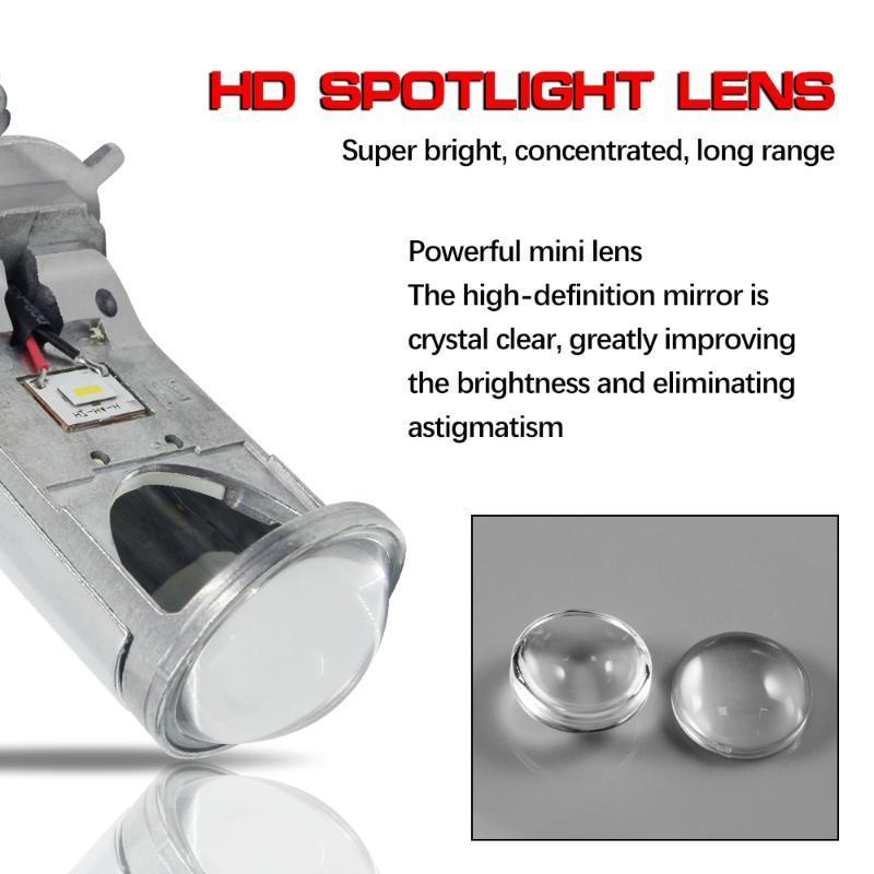 1set*Wholesale Led auto headlight 1000LM Y6 Flip chip car auto parts fanless led h4 mini projector car bulb H11 H1 H3 H4
