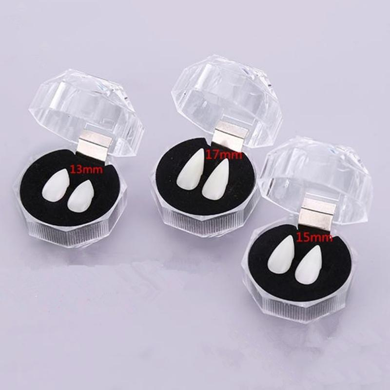 Portable écologique résine Vampire Teeth Fangs dentiers Halloween Costume Party Props Holiday Supply