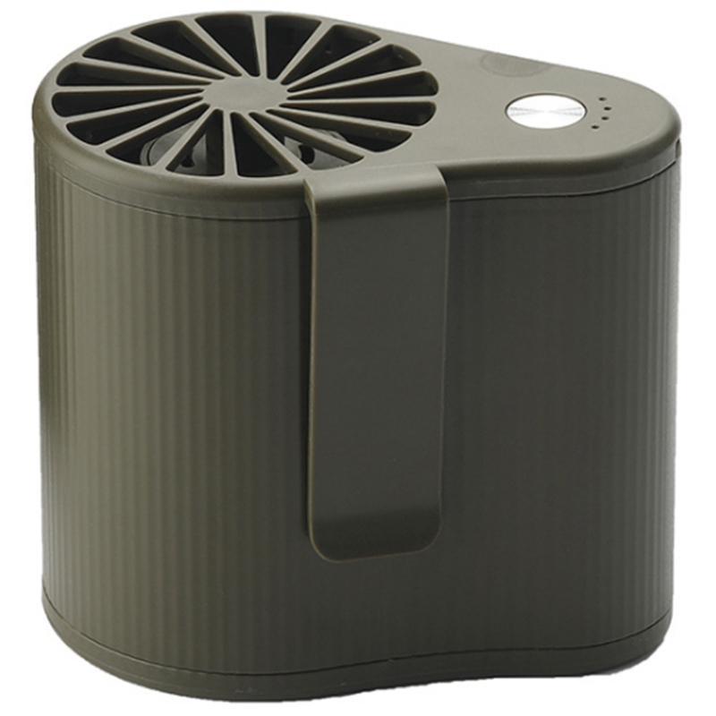 Mini-Taillen-hängender Fan super leistungsfähige Airflow tragbare Klimaanlage Anzug Akku 3 Geschwindigkeitseinstellung Grün