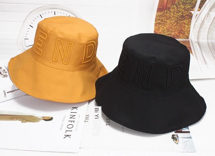 iHa1U Осень Bucket макака бассейна женщина и зимой женщины Корейского стиля мода сплошного цвета складной рыболова вышитых моды таз шляпа