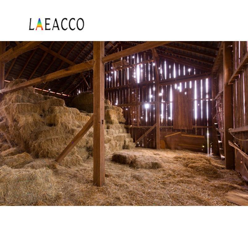 Foto del contesto Farm legno Magazzino Haystack rurale Bambino appena nato Party Background Fotografia Photo Studio Photocall