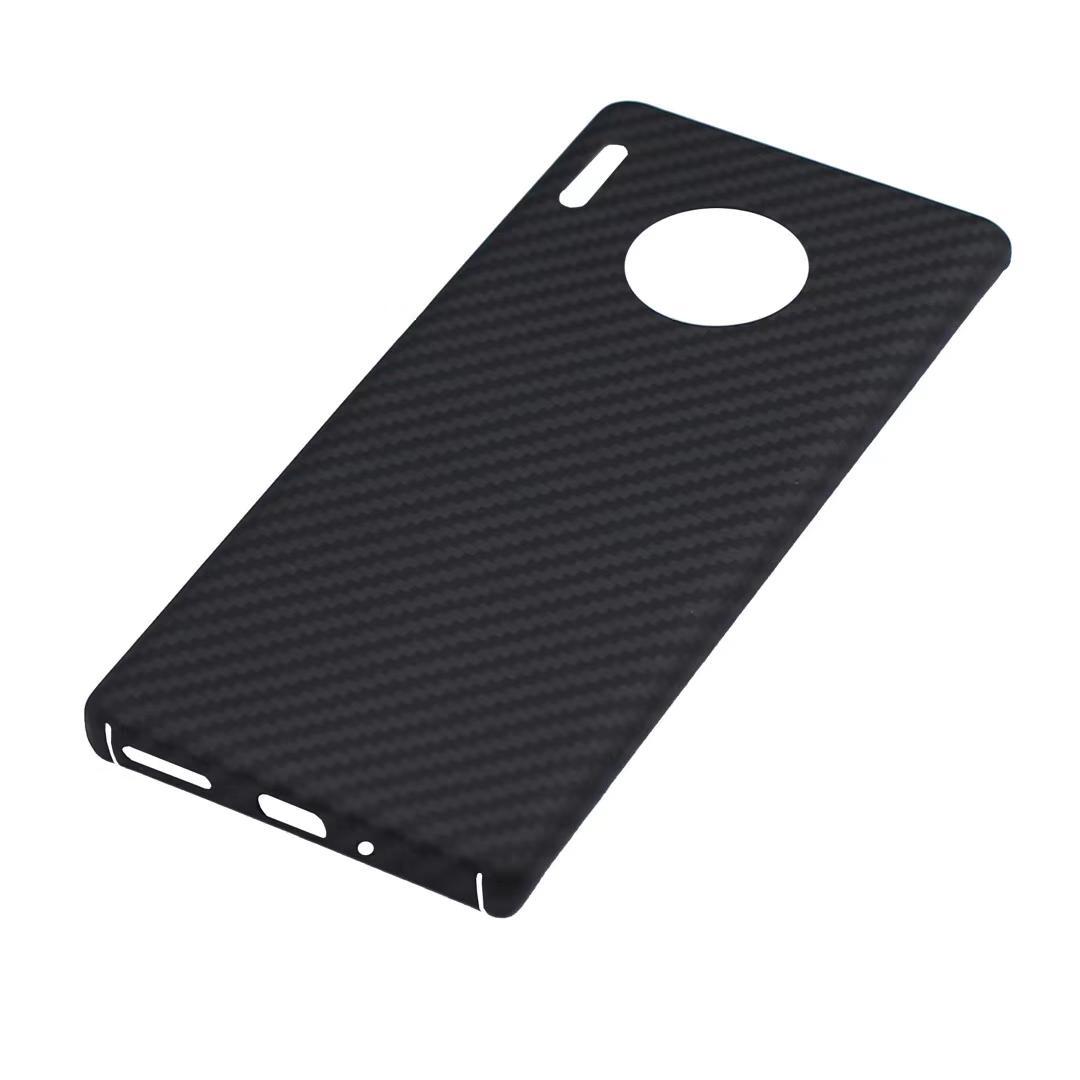 Cajas de teléfono de fibra de carbono protectores de gota MATE 30 / 40PRO PLUS Fiscal de carga inalámbrica