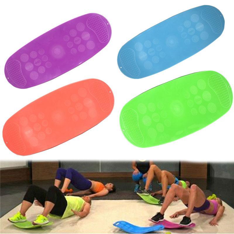 ABS 트위스트 피트니스 밸런스 보드 간단한 핵심 운동 거실 요가 트위스터 교육 복부 근육 다리 균형 패드 프란 란치 피트니스