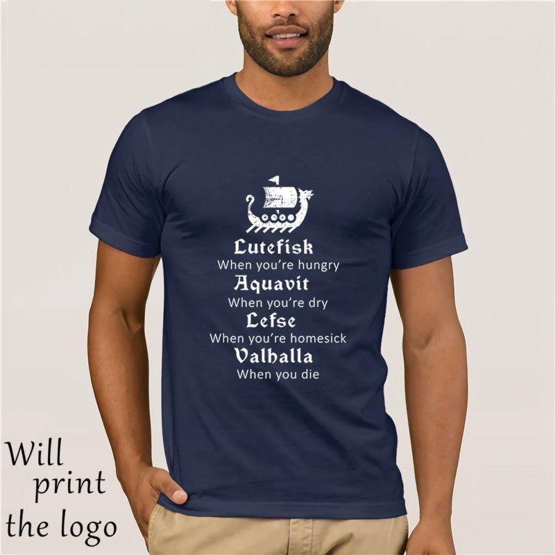 Лютефиск Aquavit Lefse Valhalla Viking Скандинавский Поэма Tee