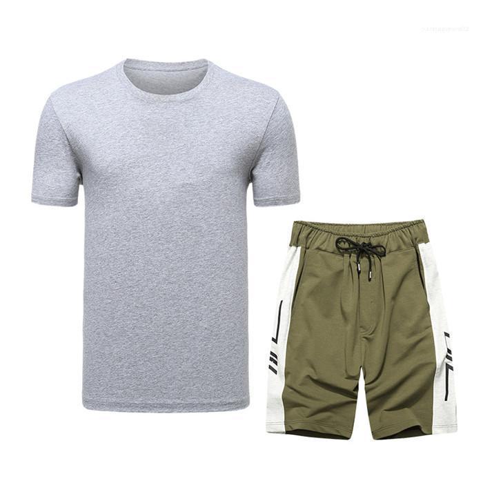 Manga de camuflaje cortocircuito de la camiseta + los pantalones cortos Pluse Tamaño chándales de los hombres Camisetas para hombre T casual camisa del juego transpirable de diseño