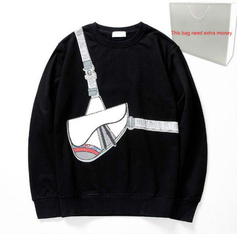 Borsa 202O traversa di modo di stampa con cappuccio 20FW Uomini T-shirt da Uomo Maglione primavera pullover con cappuccio Streetwear Homme 2 colori