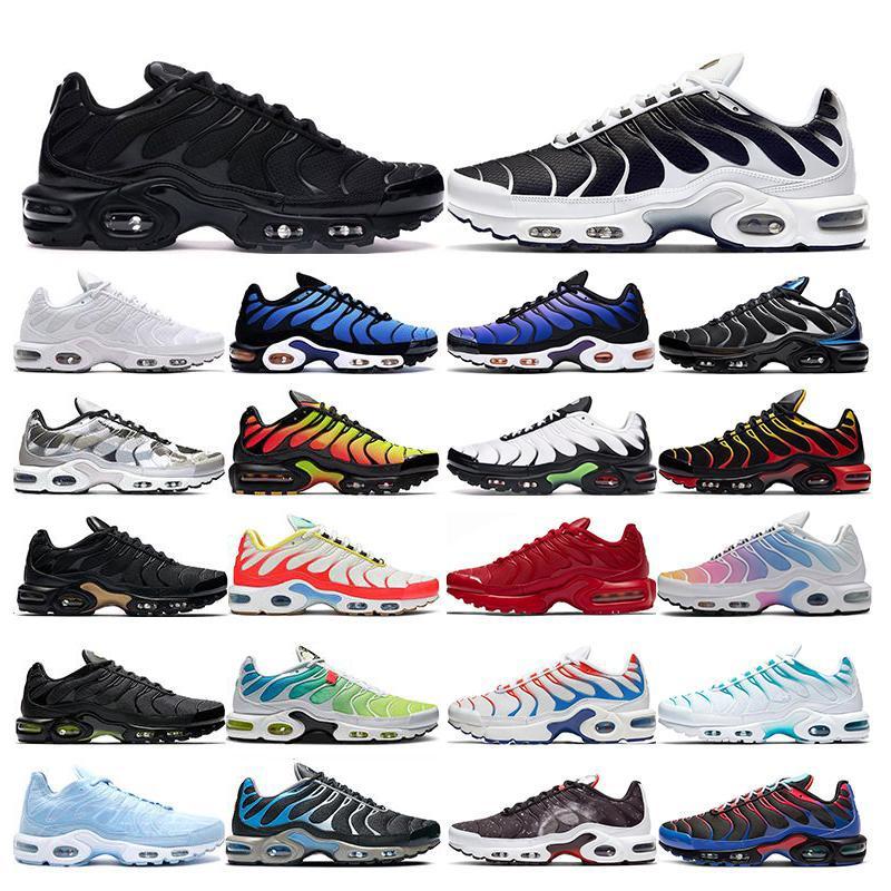 2020 tn artı koşu ayakkabıları Beyaz Volt siyah Hiper Medyum mavi Oreo Mor Nefes moda spor eğitmenleri açık spor ayakkabıları womens mens