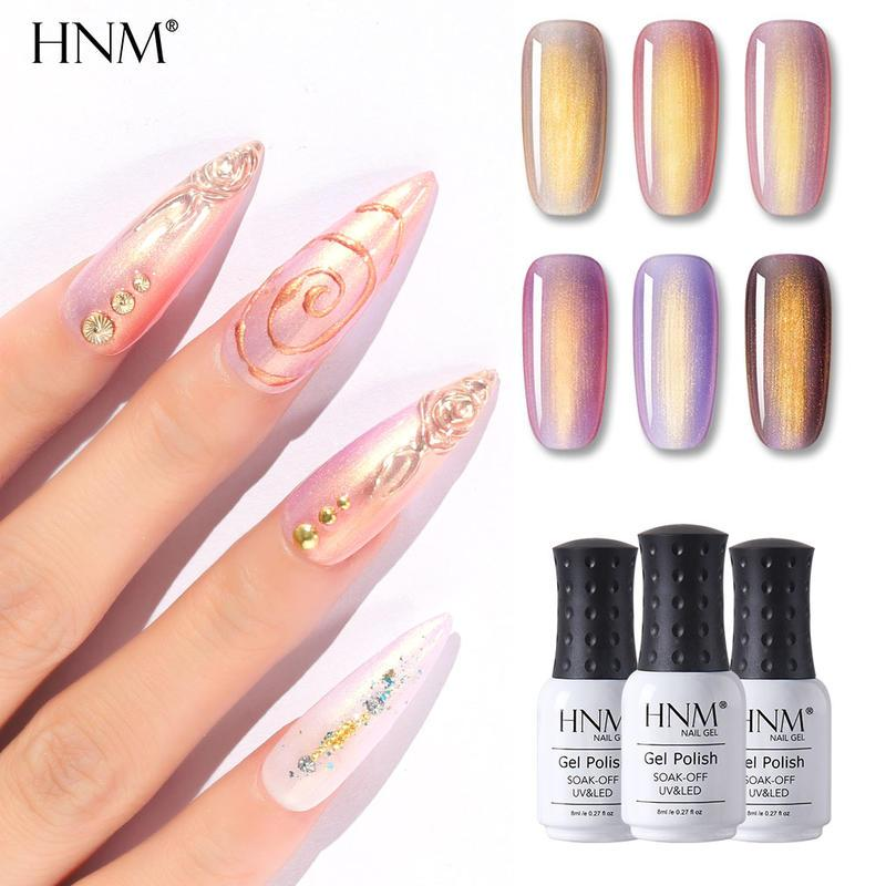 HNM Rose Gold Sereia UV Prego Gel Soak Off Semi Permanente Vernizes Primer Vernis Lacquer Gel Lak Stamping Enamel