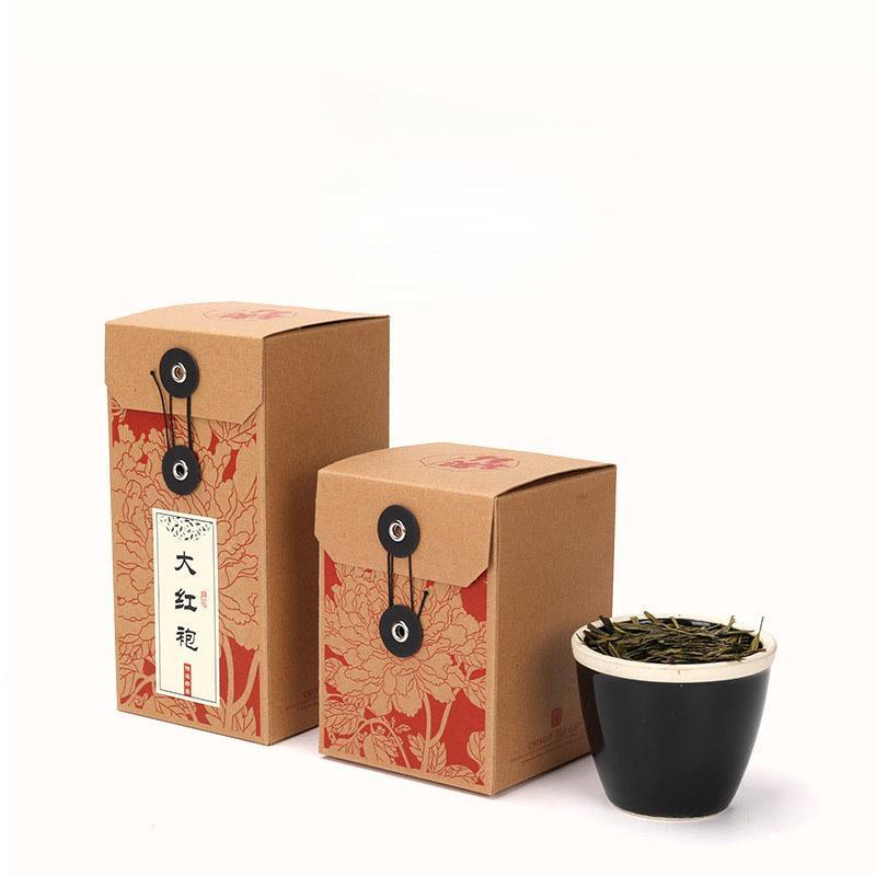 Retro Kraft Paper Tea Scatole imballaggi vuoti pieghevoli Contenitori di regalo a base di erbe fiore del commercio all'ingrosso del tè