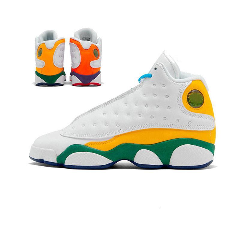 Он 13 13s Мужчины Баскетбол обувь Reverse Горячие Got Продажа Игра площадка Flint Бред Атмосфера Серый остров Зеленый Мужские кроссовки спорта 7-13
