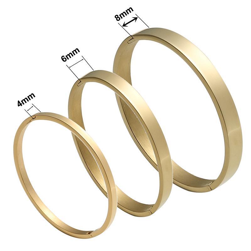 2020 سوار أزياء مصمم المجوهرات التيتانيوم الصلب النساء والمجوهرات وارتفعت جديدة على نحو سلس زوجين سوار مشبك الذهب والمجوهرات سوار بالجملة
