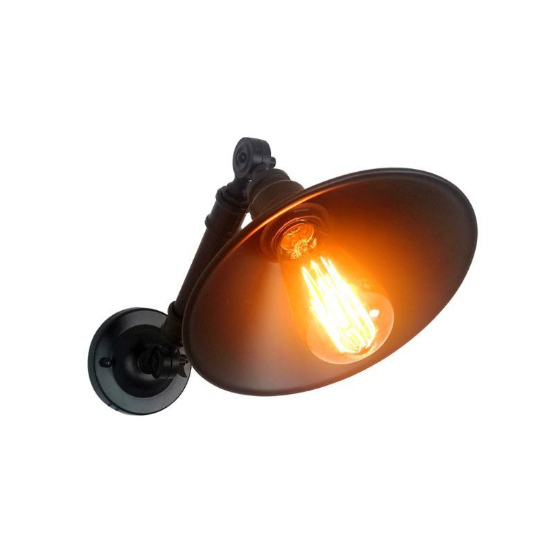 Vintage Industrial Wind E27 Wall Light Creative Rotatable Water Pipe Wall Lamp For Restaurant Bar Cafe Bedside Hotel Home Decor
