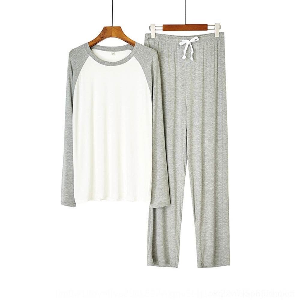 oJyGi мужская с длинными рукавами удобные пижамы костюм летней одежды большой дом мебели одежды тонкие случайные свободные размер одежды modier перещеголять