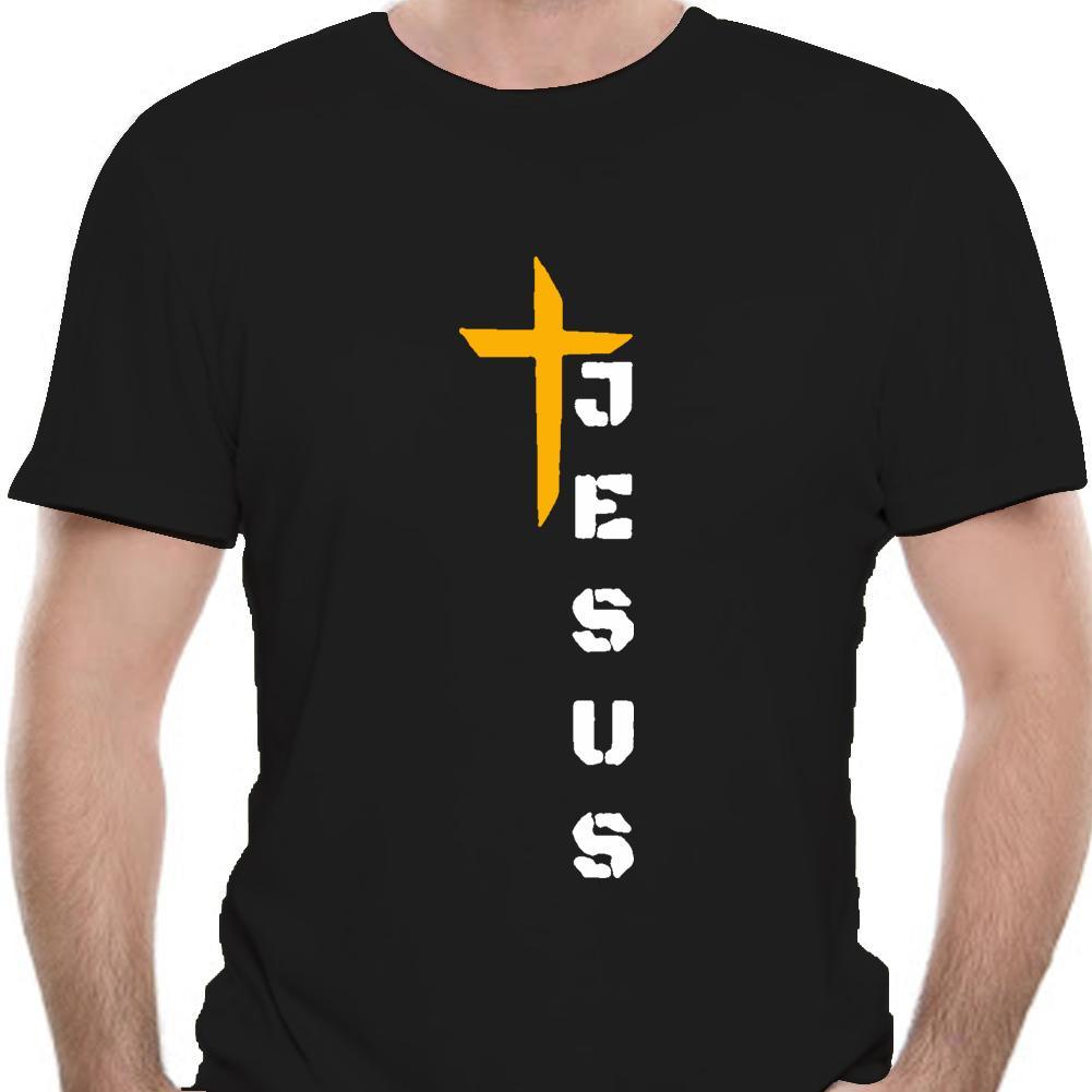 Cruz de Jesus T-shirt Homens Mulheres fé cristã camiseta religiosa Christian Man 9425A