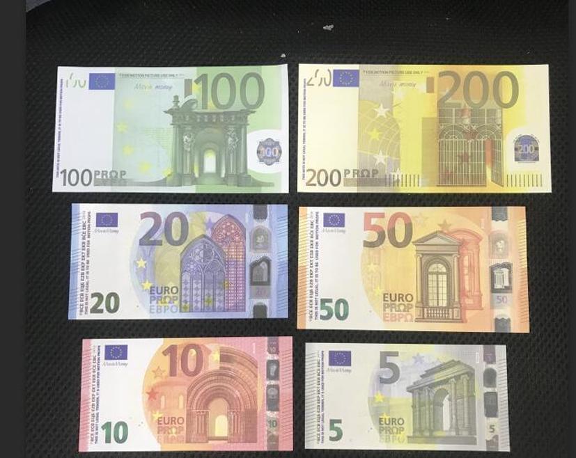 Jogo Pound Bar Especial Adulto Dollar Brinquedos Euro Jogo Stage Props maioria Prop Pound Crianças do filme Props Euro Realistic Dinheiro Dólar yxlTm
