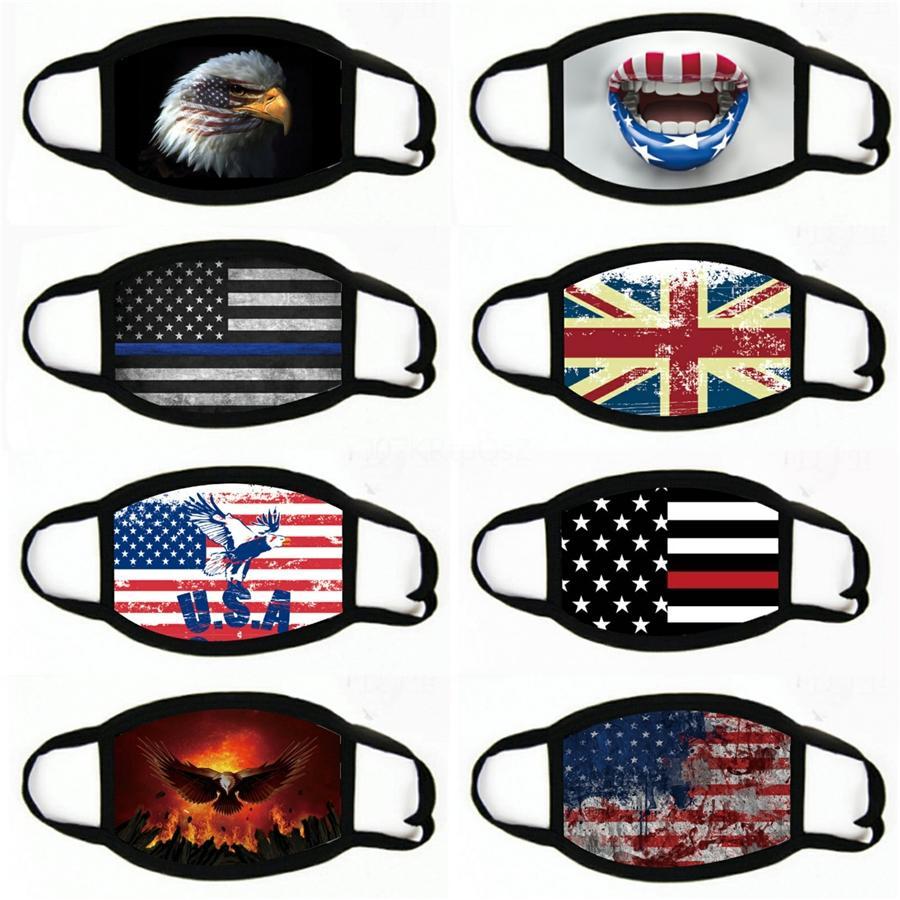 Elección de los EEUU Bandera Impreso familiares Mascarillas verano del diseñador, Bandera Cara Boca máscara máscaras procesión al aire libre a prueba de polvo # 950