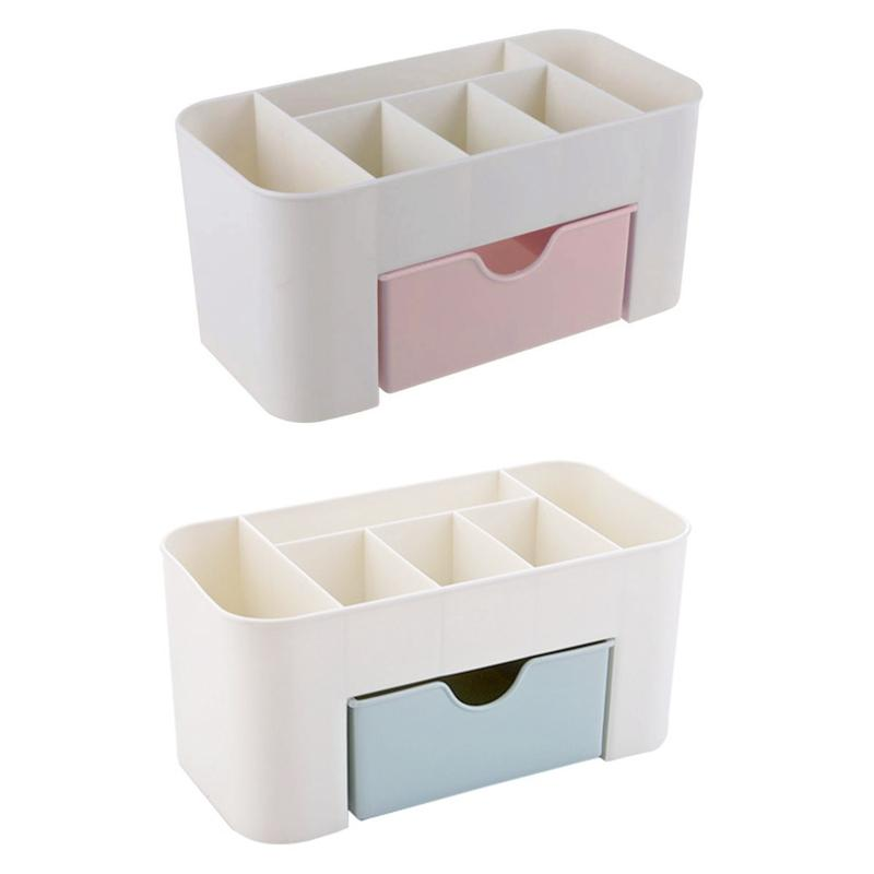 Jewelry Pouches, Bags 2x Cosmetic Case Lipstick Cases Sundries Small Objects Box Wholesale Desktop Organizer Blue & Pink