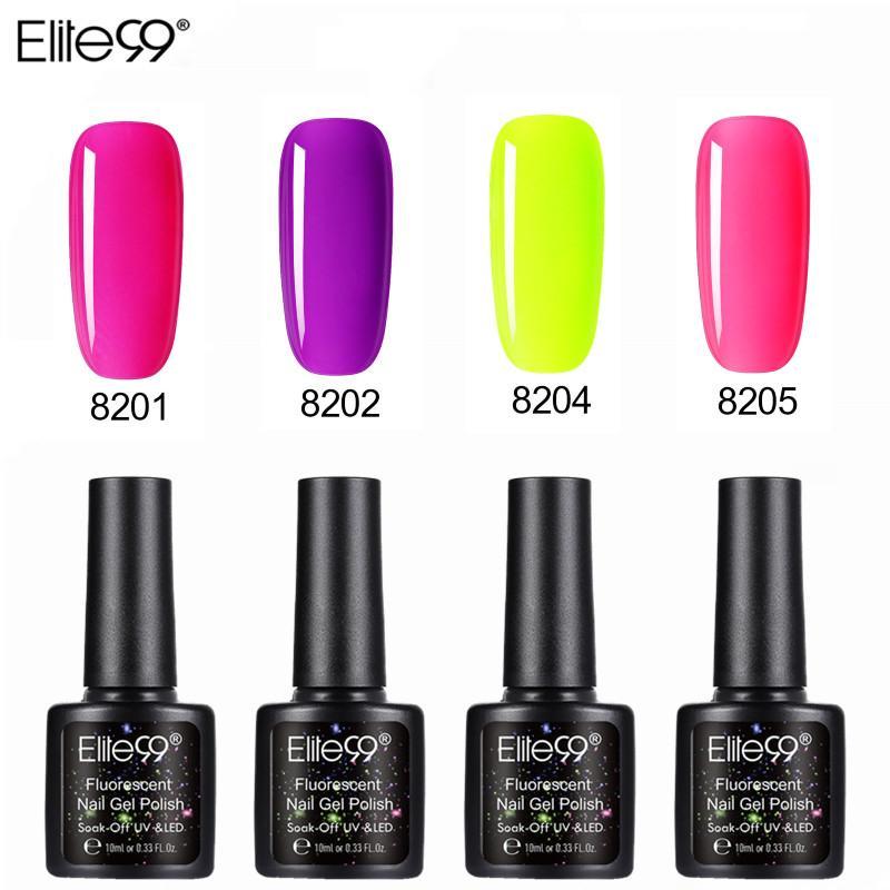 Elite99 Fluorescen colorato gel del chiodo vernice UV del gel del chiodo polacco Nails lacca di colore della caramella del manicure di arte Nails lacca
