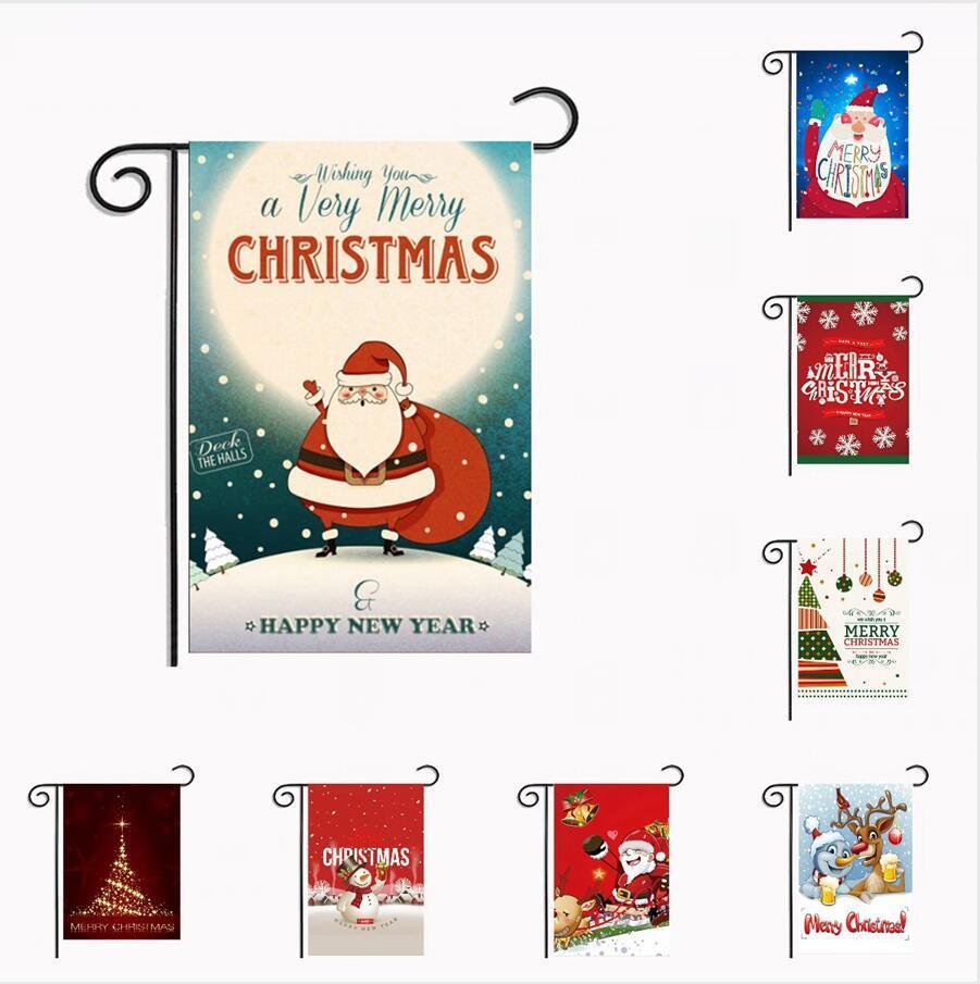 Bandiere di Natale Giardino 30 * 45cm appeso all'aperto Giardino Banner Happy New Year Banner Natale Home Decorazione per feste DDA488