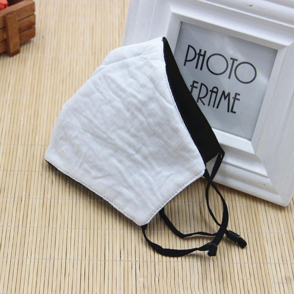 Maschere per il viso nero di modo di protezione unisex polvere di cotone lavabile Bocca riutilizzabili