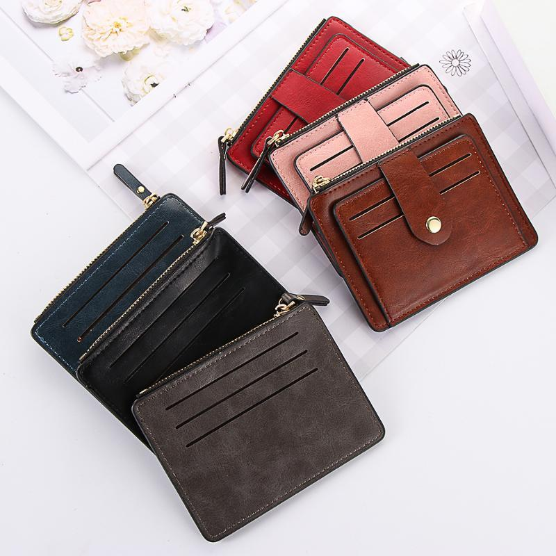 1PC New Unisex PU Leather Small Wallet Credit ID Card Holder Slim Wallet Business Purse Money Case for Men Women