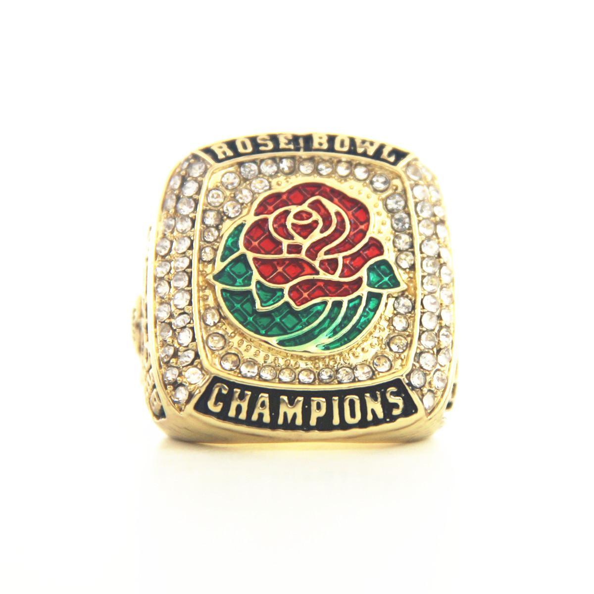 2020 Oregon Ducks Rose Bowl College Football Championship anel fãs fãs aniversário do partido lembrança Coleção Festival presente US TAMANHO 11 #