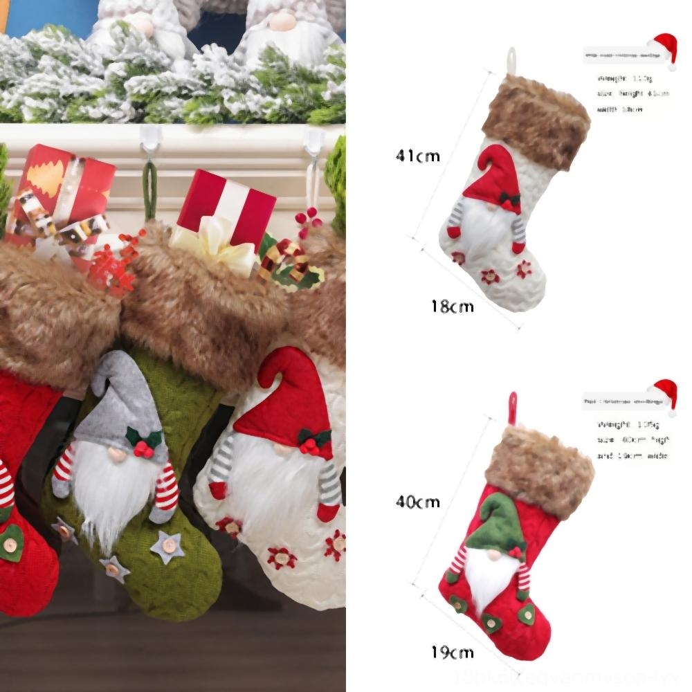 HyaTC Cutlery Hotel socks Cover Santa Claus Snowman DeerFork Skirt Decorations SpoonXmas Pocket Table Decoration FWF