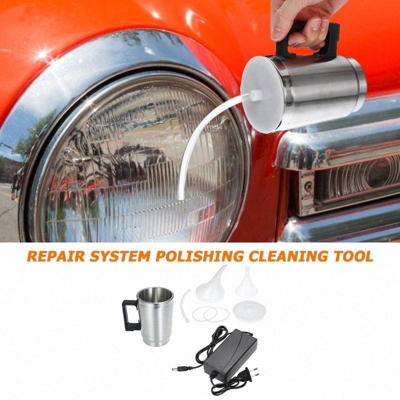 Pulido de faros Copa de la linterna del coche Reformado atomización taza de la lente del kit de reparación de reparación del sistema de pulido o limpieza con herramienta Foz8 #
