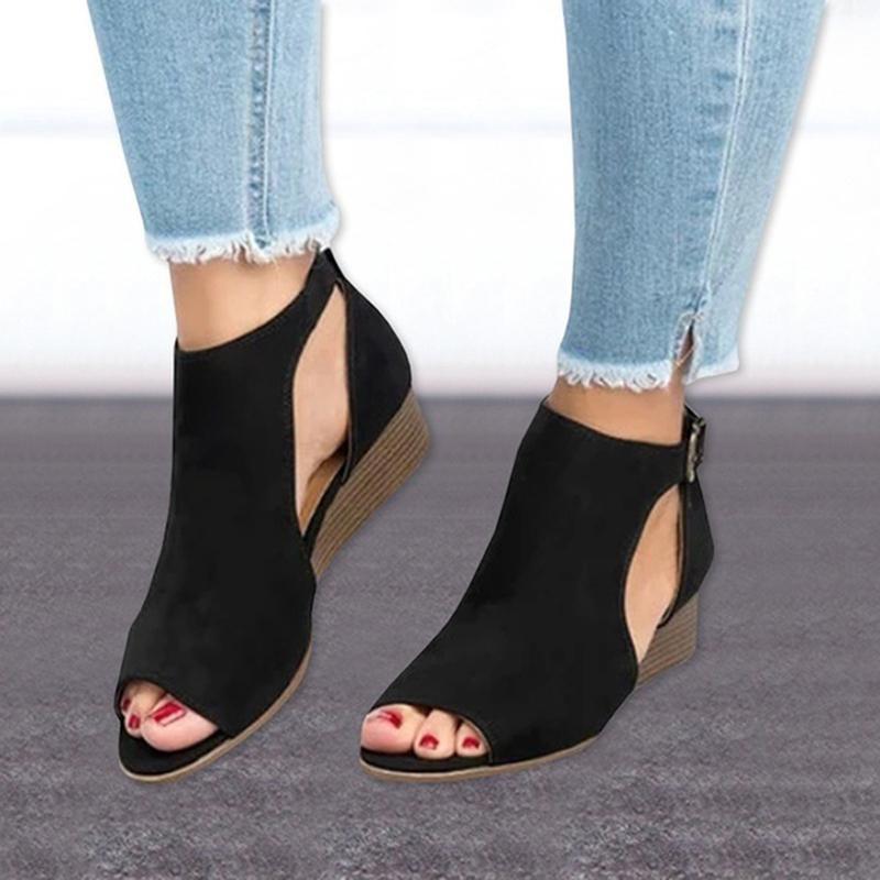 Sandali Zeppe scarpe per le donne Tacchi alti 3cm dei sandali estivi Femme della piattaforma Chaussures 2020 Plus Size