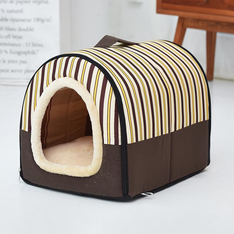 الكلب السرير الشتاء الدافئ بيت الكلب ل جرو العش القط كيس النوم كاميرا كاما بارا كاتشورو البيت للقطط الكلب منزل السرير الحيوانات الأليفة