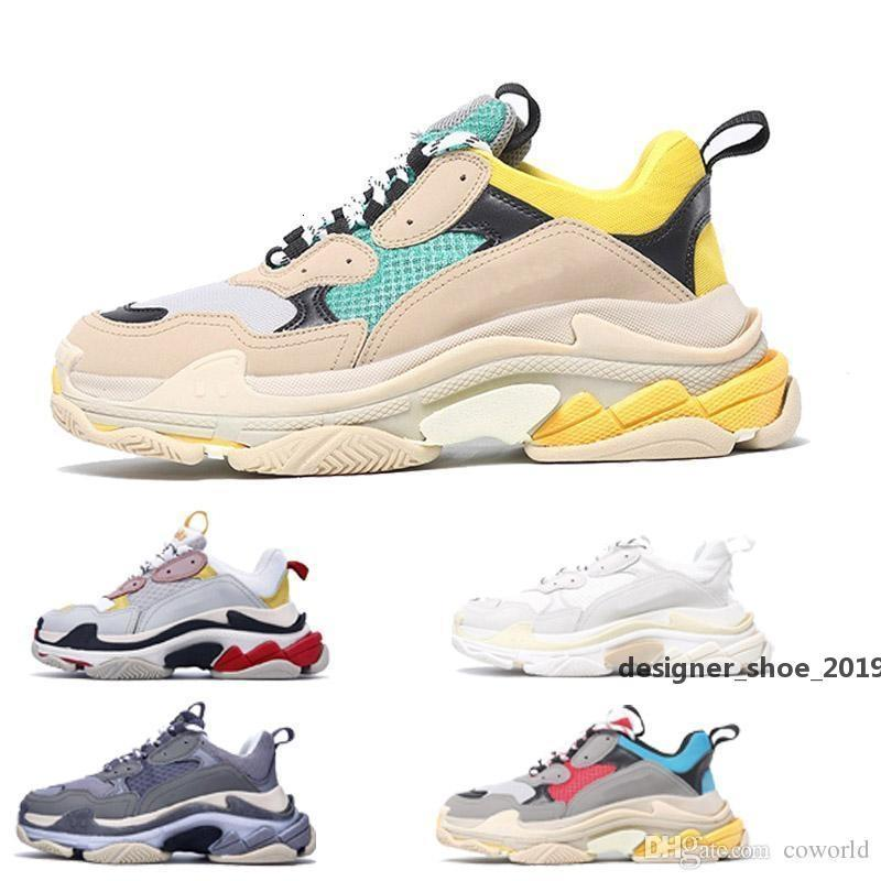 2020 Moda Paris 17fw Üçlü -s Sneaker Üçlü S Casual Baba Ayakkabı Erkekler Için S Kadınlar Bej Siyah CEAHP Spor Tasarımcısı Ayakkabı Boyutu 35 -45