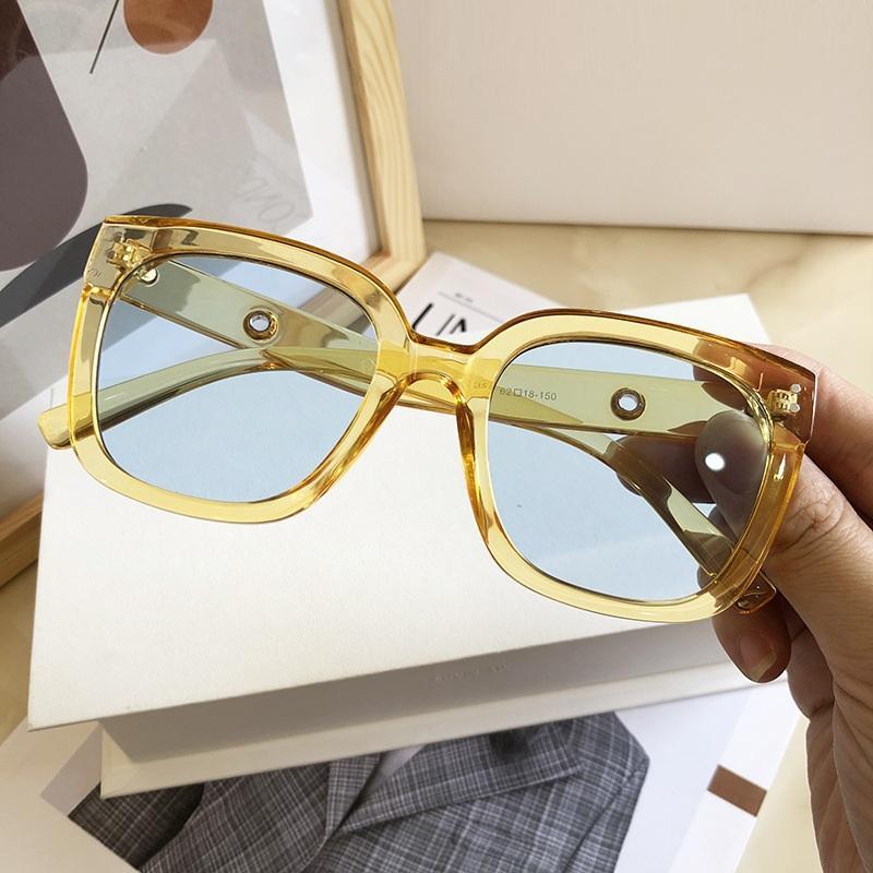Qpeclou очки солнцезащитные очки мода пластиковый черный квадрат большой бренд 2020 дизайнер новый кадр солнцезные оттенки мужчин женщин негабаритные CQTCL