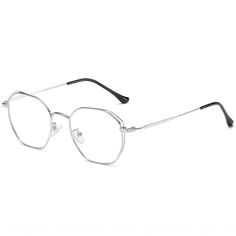 kzUCh 2020 nuevo de la manera anti-Azul Glasses Miopía Glassesframe miopía planos de las mujeres de polígonos de metal marco de los vidrios