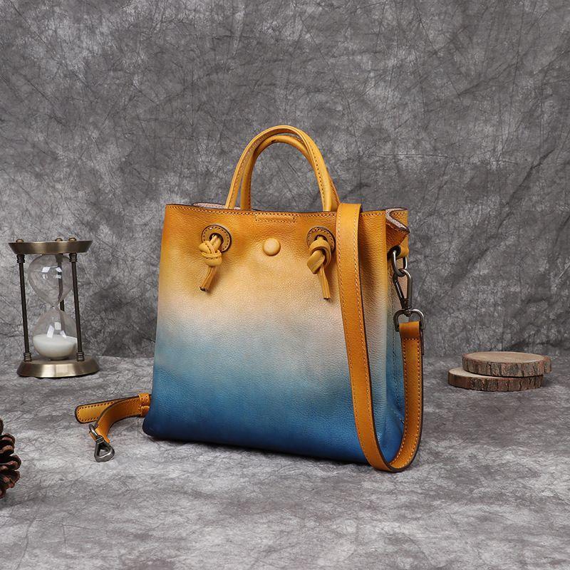 Cuir de qualité en cuir sur-the-épaule Nouveau sac MWTDW High Vintage Vintage Vintage 2020 Main Full-Grain Femmes Automne Frotter Color Color HWJCM