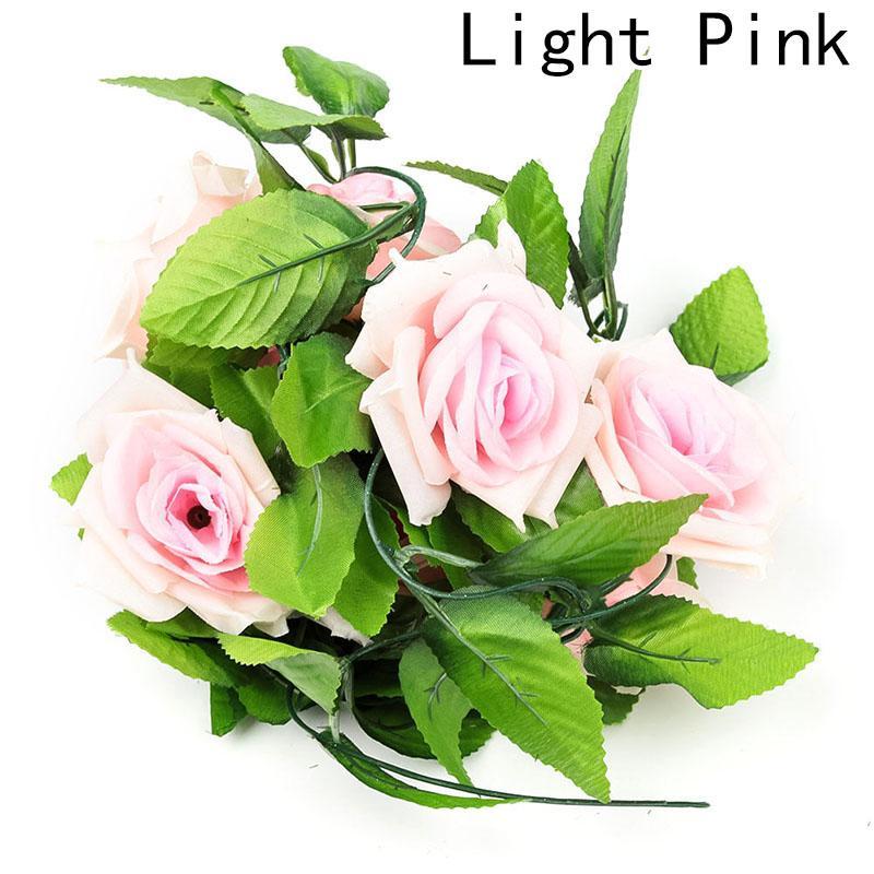 Simulation Rose Flower Vine For Home Wedding Decoration Fake leaf DIY Hanging Garland Artificial Flowers 1PCS