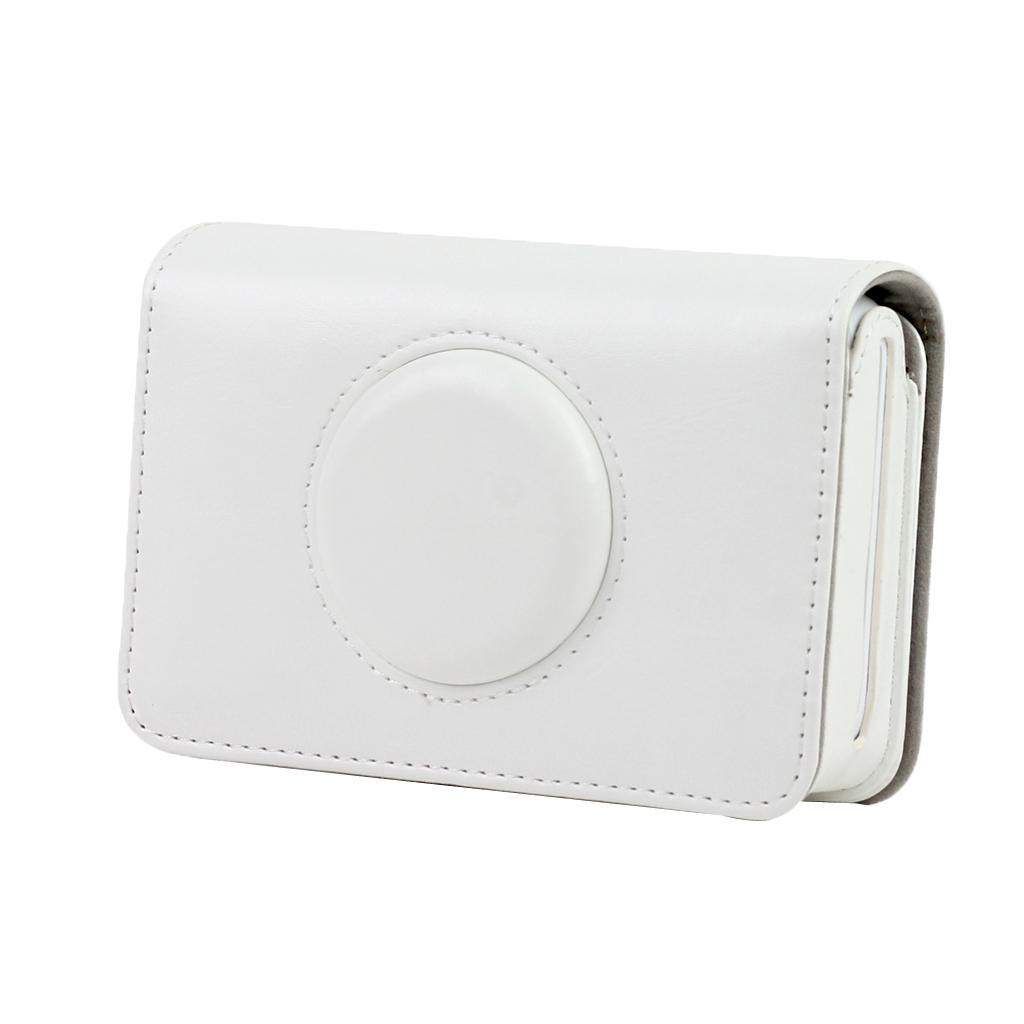 PU Leather Case Travel Bag Cover Protector for Polaroid Snap & Snap Touch Instant Print Digital Camera (White)