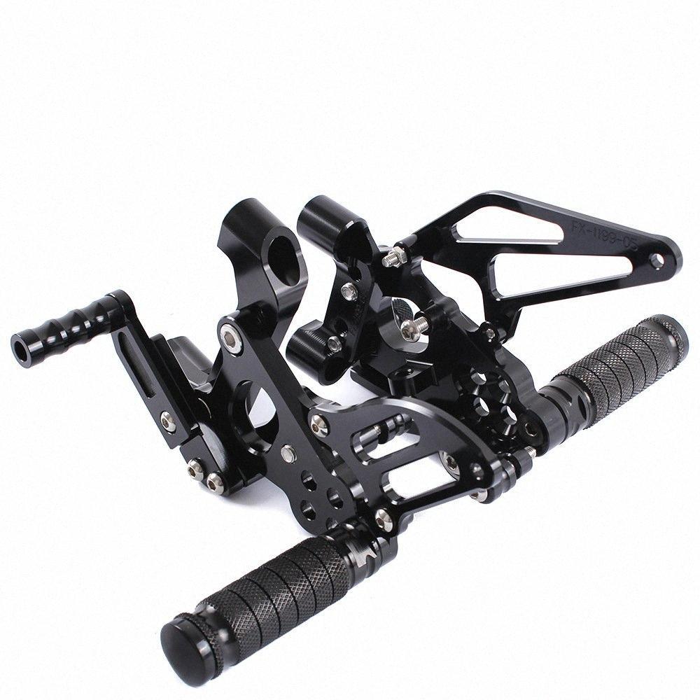 Para 899 1199 Panigale 2012 2013 2014 2015 CNC motocicleta ajustáveis Rearsets traseira põe os pés Pegs Pedal pé descansa kNJu #