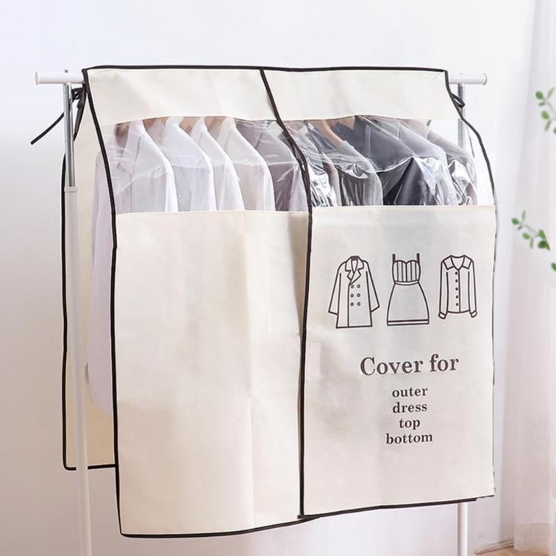 La capa de polvo de corrección de la cubierta de la ropa cubierta de tela Tela Organizador se adapta al bolsillo de almacenamiento Bolsas Organizador del gabinete del organizador del armario